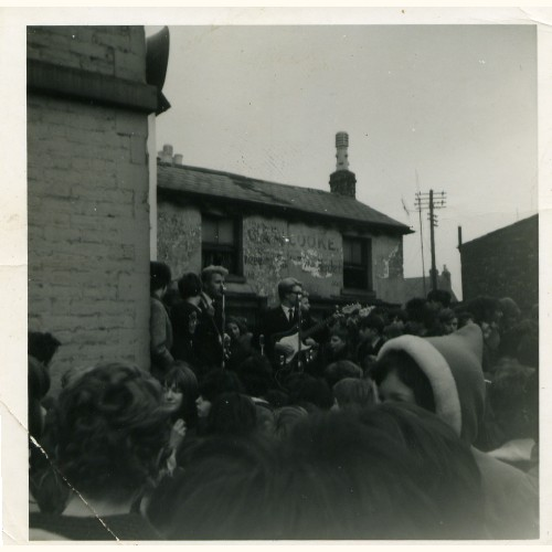 playing live in High Street, Tredworth, Gloucester on Easter Monday 1965