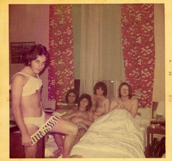Haim Romano, Miki Gavrielov, Ami Trebich, Stan Solomon, Robb Huxley  The Churchills at Hotel Peters in Copenhagen Denmark 68-69.