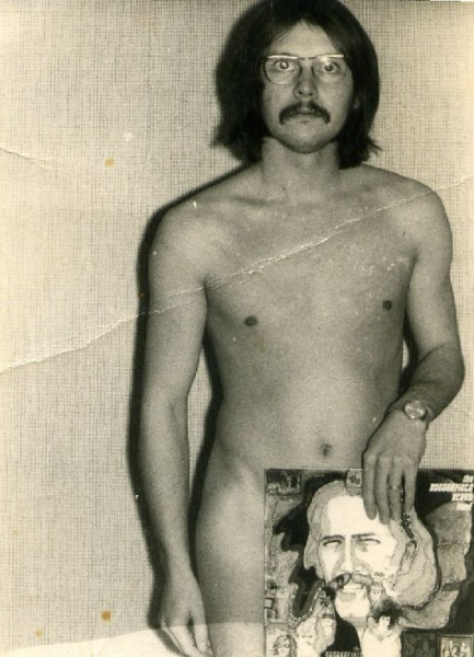 """Robb Huxley at Hotel Peters Copenhagen Denmark '69  Well sombody has to try to keep up with Stan Solomon and his famous """"butt"""" display."""